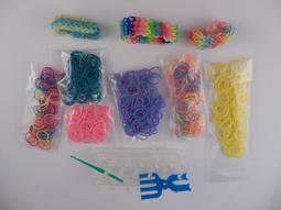 Rainbow彩虹編織橡皮筋>補充包6個>編織器>手鍊手環3個