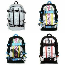 代購 新款字母日韓潮流VANS滑板包後背包旅行包書包雙肩包 可掛板 超帥款式 賣場另有多色