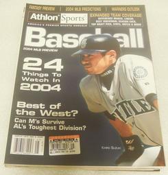 【絕版收藏】Athlon Sports MLB 2004球季預覽 Ichiro 鈴木一朗 封面