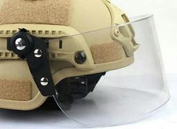 送手持充電風扇~全新現貨透明黑框 防風鏡片 防暴面罩 導軌頭盔 FAST 面罩 頭盔專用 CS 防BB彈 生存遊戲用
