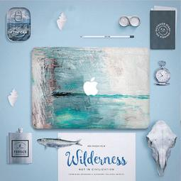 【鴻駿科技】海洋油畫感/ 職人手作 Macbook 包膜/ 歐美正夯/ 內含三面