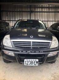 05雙龍-REXTON-3.2cc、賓士引擎 黑色、黑內裝、天窗 七人座、4WD、一手車 全車原漆、原鈑件、冷暖俱全 少
