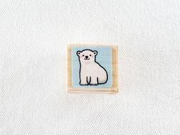 *小徑文化*日本進口 kodomo no kao 木質印章 小小海洋系列 - 北極熊寶寶 ( 1014-001 )
