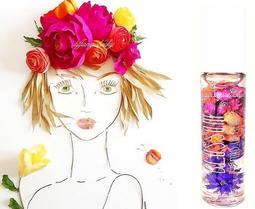 美國加州製造!Blossom【注入100 % 真花!百香果香氣.花瓣果香護唇油】與 Island Girl 同廠!現貨
