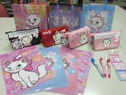 ***迪士尼瑪莉貓/marie優質文具組【199元5件組】筆袋1、便條本1、資料夾4片、自動鉛筆3、提袋1