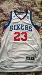 NBA adidas 費城76人Sixers  Louis Williams SW  主場白球衣  size S  全新