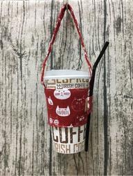 【小荳苗】 環保系列-環保杯飲料提袋--最愛喵喵紅色(舖棉款冷熱皆可用)原價250試賣199