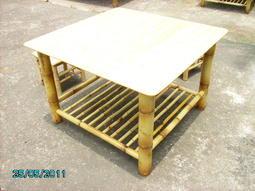 ***☆竹還真竹藝館★**BF1304三尺四方竹桌(加層板)