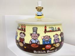 英國熊微波胖胖杯850ML/British Bear附杯蓋/瓷杯 住宿 出國 旅遊 露營 遊學 大容量攜帶方便 安全性佳