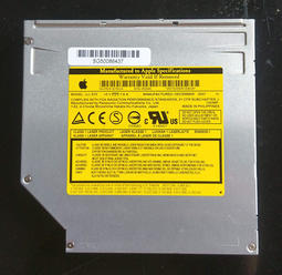 蘋果MacBook SuperDriver吸入式筆記本UJ 875 內接8x dvd光碟燒錄機IDE阜口 PC 也可用