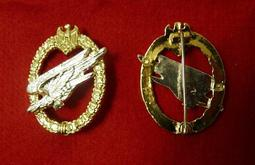 WWII二戰德軍  國防軍WH傘降兵勳章  1:1  納粹德國 傘兵突擊章