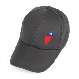 ☆二鹿帽飾☆(國旗帽) /流行棒球帽/紀念帽/最新帽款帽簷加長型-台灣製(可客製化) 10.5cm-灰色