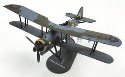 <現貨> 二戰英國劍魚式 魚雷攻擊機 雙翼飛機 細繩袋 1:72 合金飛機模型 實物拍攝