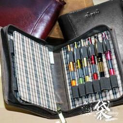 美國 Girologio 12支裝皮革筆袋