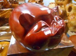 100%天然全紅木雕刻造型如意豬(小)撲滿特價出清請先詢問庫存