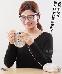 模型組裝 DIY手工藝【日本I.L.K.】1.6x&2x/110x45mm 日本製大鏡面放大眼鏡套鏡 2片組 (共三色)