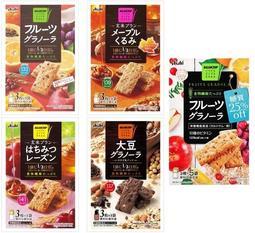【日本百貨】 Asahi 朝日食品 水果燕麥餅乾 3枚X5袋入 玄米餅 朝日早餐水果餅 食物纖維 早餐餅 日本進口