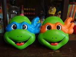 ▲美好時光▼ 早期-1991年 忍者龜 面具 懷舊玩具 Playmates TMNT 正版授權台灣製