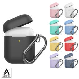 AHAStyle AirPods 1&2代 矽膠保護套 (掛勾分離款)