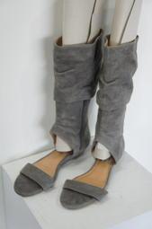 [二手] 灰色麂皮靴型涼鞋
