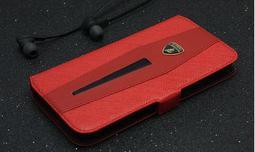 藍寶堅尼lamborghini iPhone 6/6S 真皮可拆式側翻皮套Ducati 法拉利
