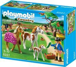 摩比 playmobil 5227 圍欄裡的大小馬兒