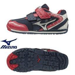 【登瑞體育】MIZUNO 兒童運動鞋 紅x深藍/安定/專用楦頭/發育/小童/學前_K1GD193762