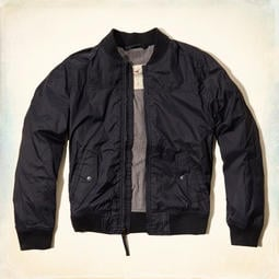 全新 鋪棉外套風衣夾克 Hollister Harbor Beach Jacket 黑色 XL號