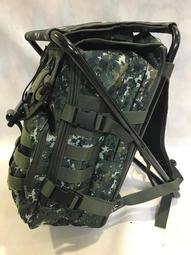 可開發票!最新款鋁合金管國軍數位迷彩板凳背包 戰術背包 登山背包 後背包