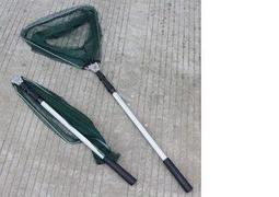 精品三角抄網1.7米可任意定位手把長度鋁合金一體式式抄網細網眼