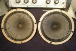"2 x Goodmans Full range England Wembley Alnico Loudspeakers 8""全音域紙盆漂亮"