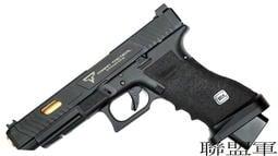 【聯盟軍 生存遊戲專賣店】SAT GLOCK TTI G34 鋼滑套 炙燒握把 瓦斯手槍 附槍盒 WE規格 免運費