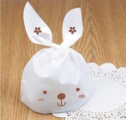 【D11】小兔耳朵 50入 包裝袋 糖果袋 餅乾袋 麵包袋 點心袋 喜糖袋 烘焙 手工皂