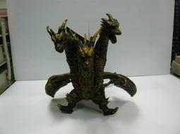 全新絕版新品正日版 2004暗黑黃金版 大型哥吉拉GODZILLA系列軟膠 基多拉 三頭龍