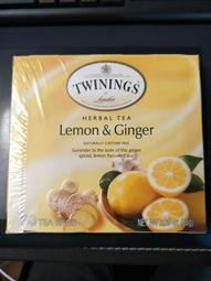 Twinings, 檸檬薑茶(大盒裝),50茶包,(75克)