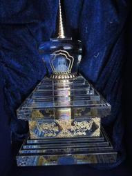 【智懋佛教文物】M008.  釋迦摩尼佛.  覺沃佛12歲等身像.  水晶菩提塔.  已裝藏開光加持.7800.