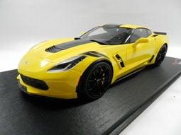 特價出清《烈馬驛站》1/18 STC 雪佛蘭 Corvette GrandSport 黃色(TopSpeed) 樹脂