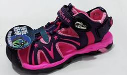 金英鞋坊 GOODYEAR固特異 女童迷幻星河磁釦護趾涼鞋 88077-紫粉 超低直購價390元