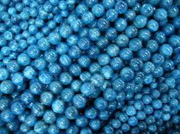~奇芽 水晶.寶石~ 天然-藍晶石 8mm 左右 極品 AAA寶石級<首飾材料>長度37cm一標一條 * =大批發場=