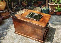 < 小院子 > 日本大正時期金錢登錄器(17)- 古董收營機 - 收銀機 - 錢箱