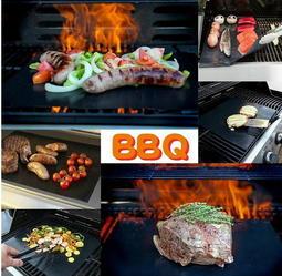 【L432烤肉墊】5入彩盒裝 玻璃纖維 萬能燒肉不沾墊 bbq燒烤墊戶外烤肉墊特氟龍燒烤墊耐高溫重複使用容易清洗 艾比讚