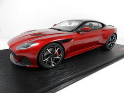 《烈馬驛站》1/18 STC Aston Martin DBS Superleggera金屬紅色(TopSpeed)樹脂