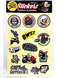 皮斯摩特 惡搞手工廠 限量聯名超大車貼 貼紙 FORCE BWS R S-MAX 勁戰三代 四代 JET S 雷霆 S