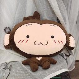 猴子暖手抱枕/三合一空調毯/空調被/抱枕毯/靠墊毯/法蘭絨毯子/新年禮物/生日禮物/新年禮品(四種款式可選)