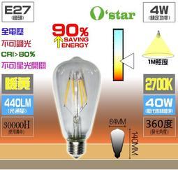6W亮度 奶嘴愛迪生 LED 特價129元 ☆光棧☆ O`star LED 錐形燈泡 4W晶片 4條燈絲 網路最超值款