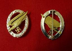 WWII二戰德軍  空軍WL傘降兵勳章  1:1  納粹德國傘兵突擊章