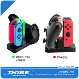 全新 NS Switch DOBE JOY-CON+PRO 手把控制器 多功能充電座 充電架 座充 TNS-879