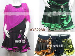 @~薩瓦拉-: 多色_新改版Y8228B_別針花形黑配色網紗捲邊雙層短裙(有安全褲)