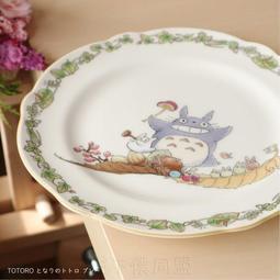【貓下僕同盟】日本貓雜貨 日本吉卜力 宮崎駿 龍貓西餐盤 骨瓷盤 甜品盤 蛋糕盤 點心盤 水果盤 碟盤 22cm