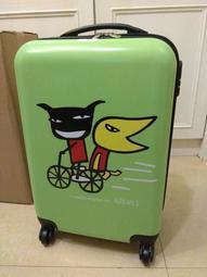 全新 造型 行李箱 20吋 密碼鎖 ABS 綠色 卡通圖案
